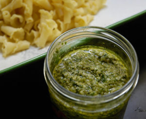 pesto with wild garlic